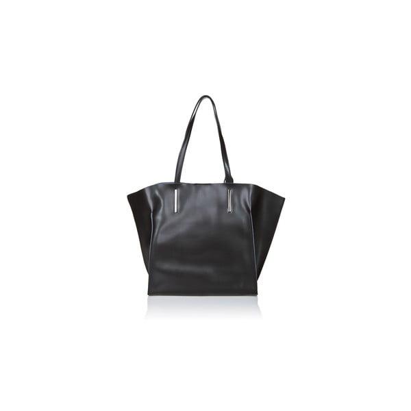 Černá kožená kabelka Giorgio Costa Mantina