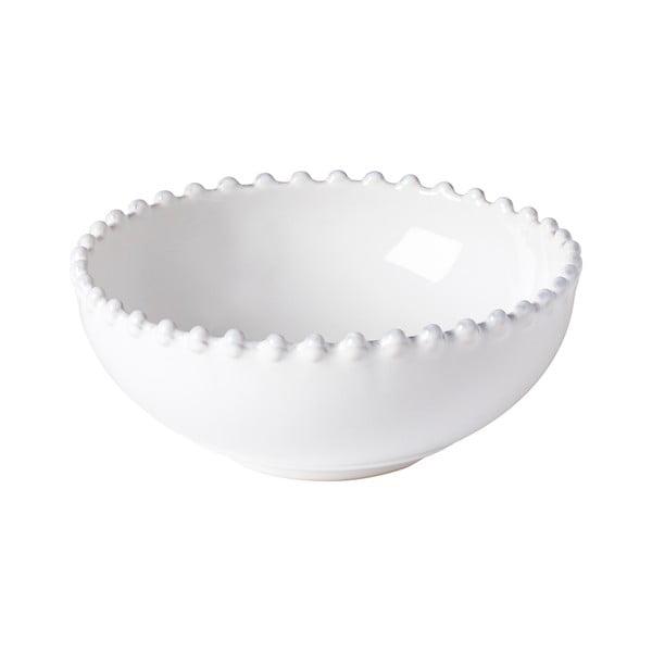 Biela kameninová miska Costa Nova Pearl, ⌀ 15 cm
