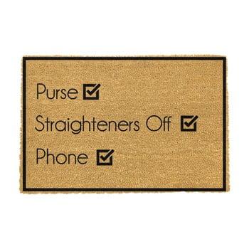 Covoraș intrare din fibre de cocos Artsy Doormats Purse Straighteners Phone 40 x 60 cm imagine