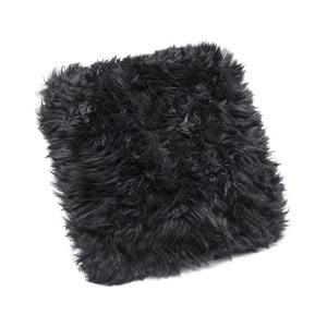 Pernă din blană de oaie Royal Dream Sheepskin, 30 x 30 cm, negru
