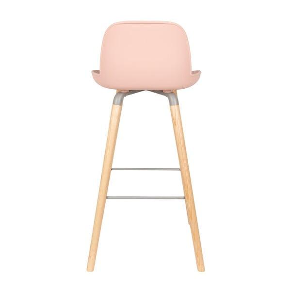Sada 2 růžových barových židlí Zuiver Albert Kuip Old Pink, výška sedu 75 cm