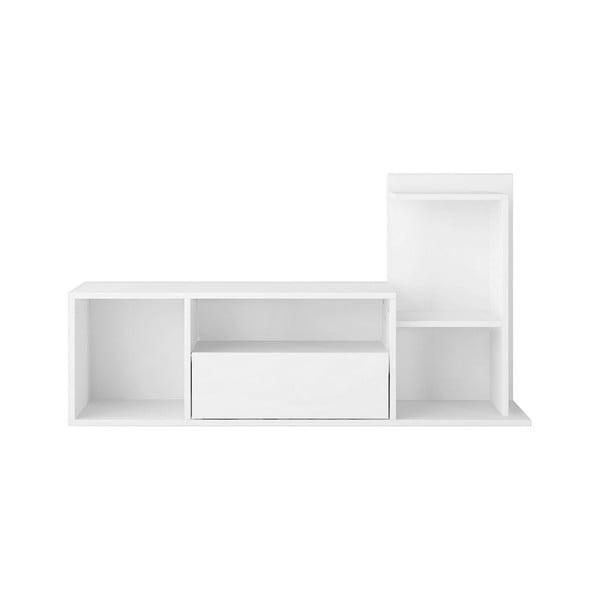Bílý TV stolek Sumatra, šířka120cm
