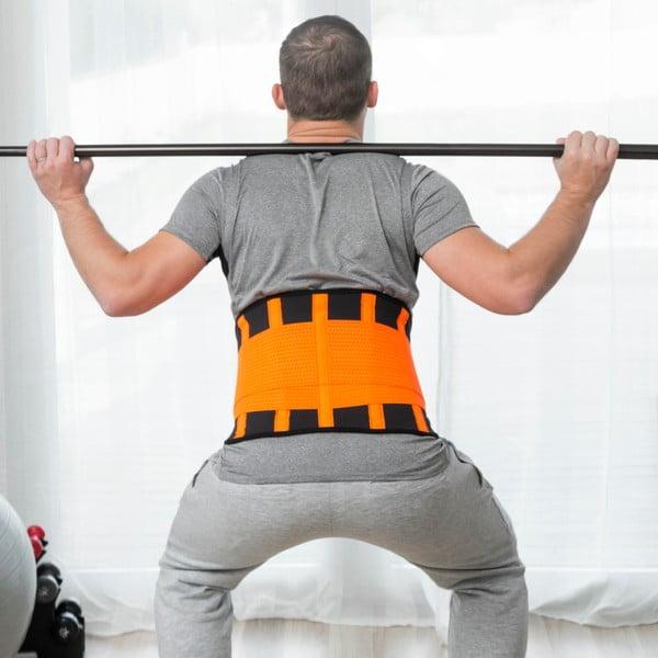 Centură sportivă corectoare și reductoare InnovaGoods, mărime L, portocaliu - negru