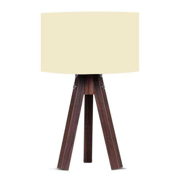 Kahve asztali lámpa bézs lámpaburával - Kate Louise