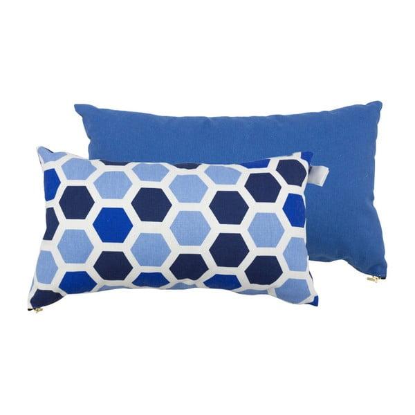 Set 2 perne Karup Deco Cushion Ocean Geometry/Navy, 45 x 25 cm