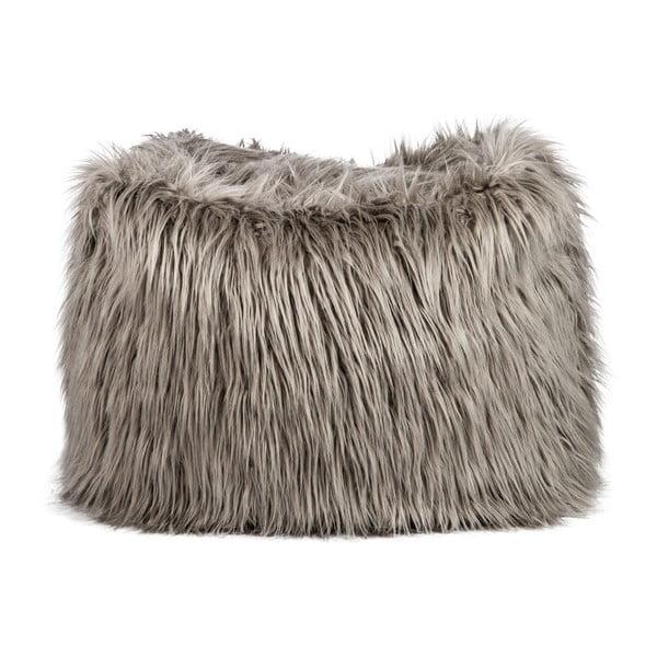 Sedací pytel Bean Bag Fur Taupe