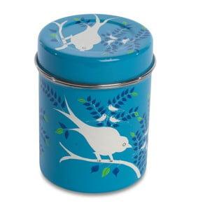 Dóza Eva Hand Painted Tea Tin, světle modrá