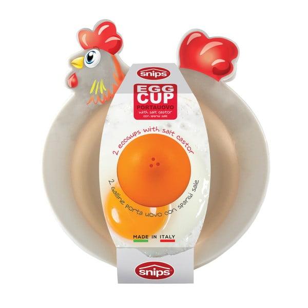 Set 2 suporturi ou cu solniță Snips Breakfast