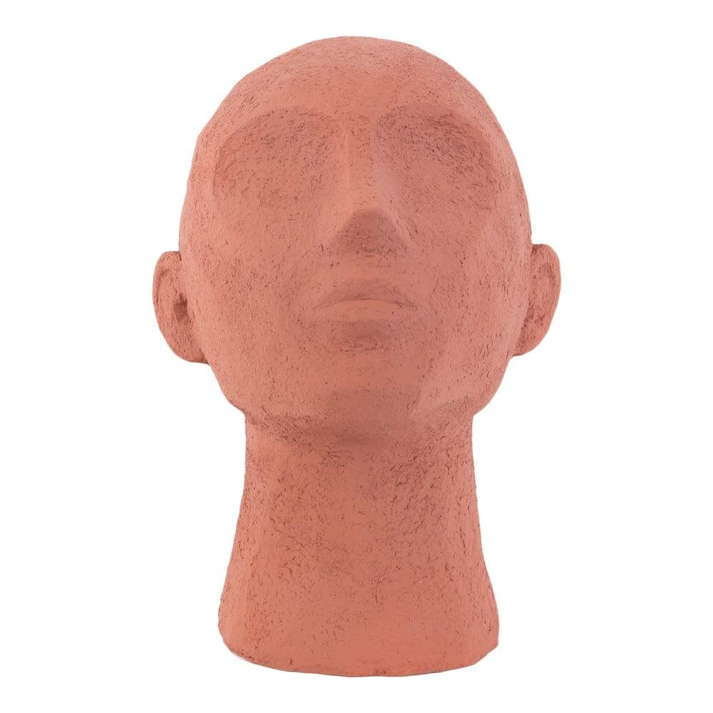 Terakotově oranžová dekorativní soška PT LIVING Face Art, výška 22,8 cm