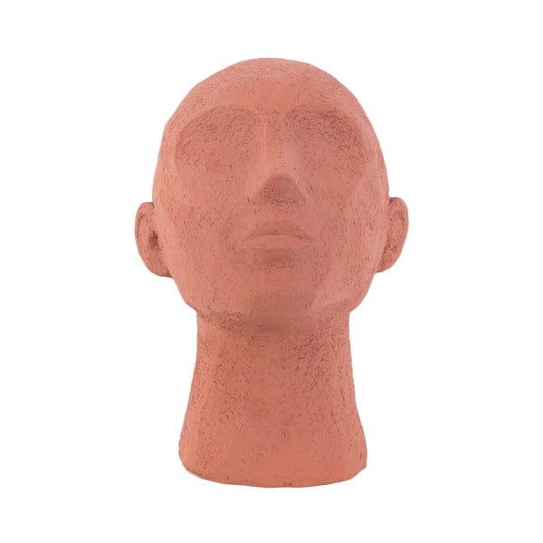 Statuetă decorativă PT LIVING Face Art, înălțime 22,8 cm, portocaliu teracotă