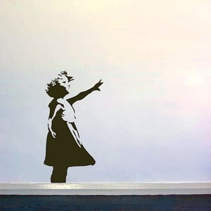 Samolepka na zeď Girl Reaching by Banksy