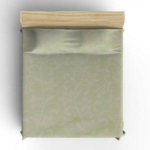 Zelený bavlněný přehoz přes postel Hutna, 200 x 220 cm