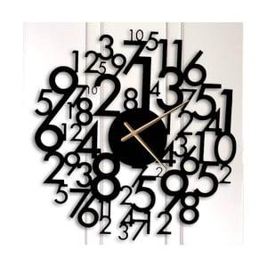 Černé kovové nástěnné hodiny Earl
