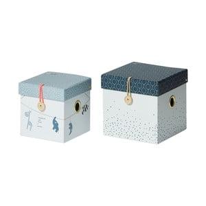 Sada 2 modrých úložných boxů Done by Deer