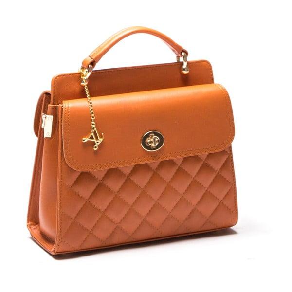 Kožená kabelka Luisa Vanini 2069 Cognac