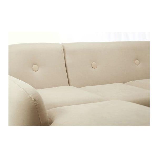 Canapea cu șezlong pe partea stângă Scandi by Stella Cadente Maison, crem