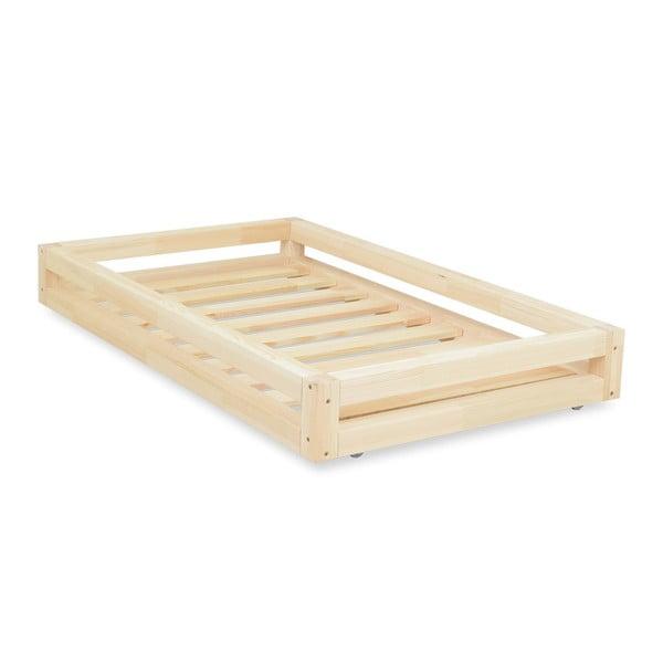 Set sertar lăcuit pentru pat și 4 picioare înălțătoare, pentru patul Benlemi80x200cm