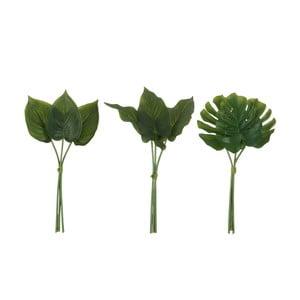 Sada 3 umělých listů J-Line Philodendron