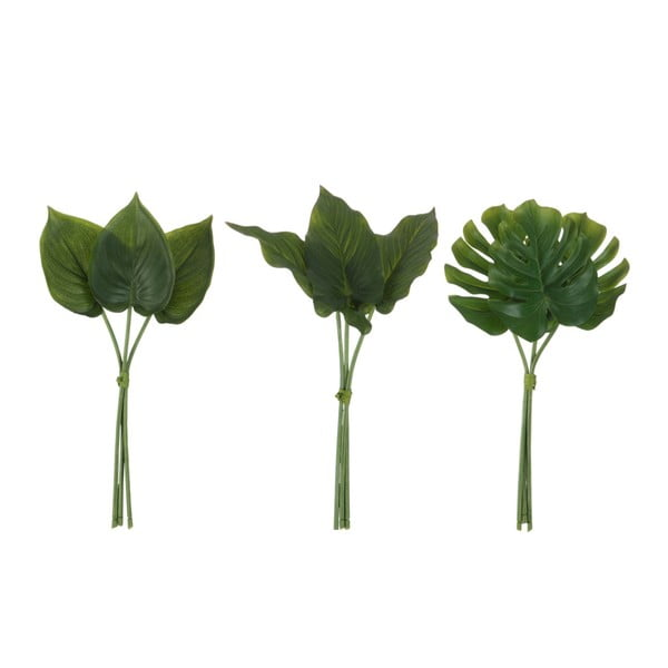 Set 3 frunze artificiale J-Line Philodendron
