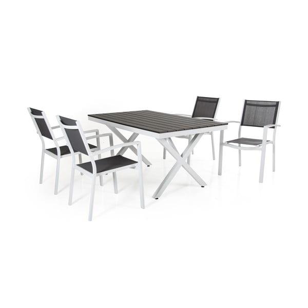 Sada 6 bílých zahradních židlí Brafab Leone