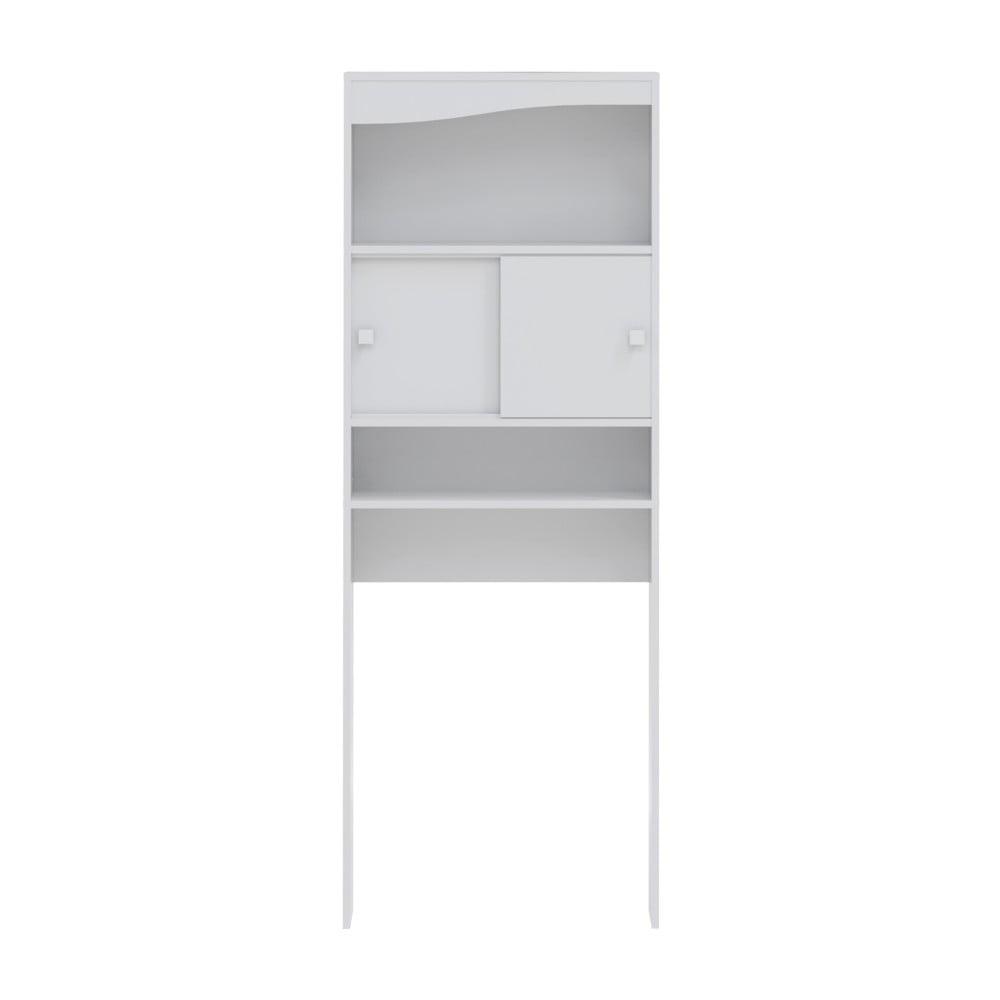 Bílá koupelnová skříňka nad pračku Symbiosis Wave, šířka 60 cm
