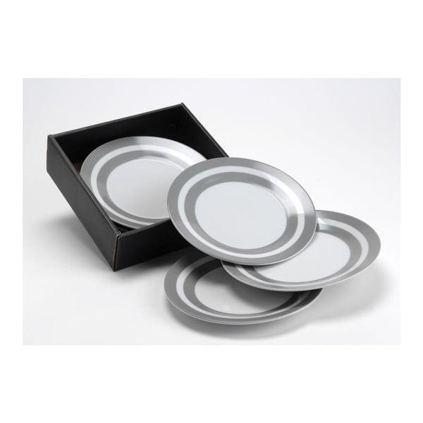 Sada dezertních talířů Grey Stripe, 8 cm, 6 ks