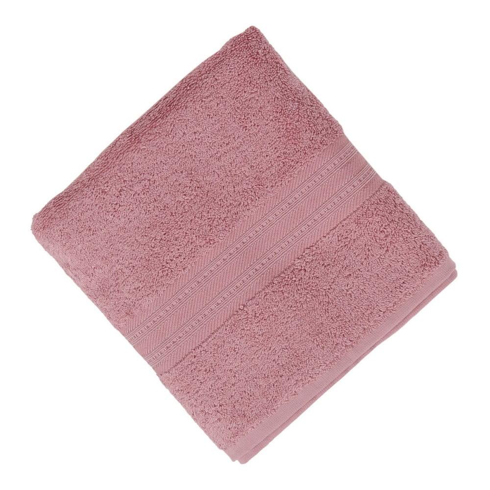 Růžový ručník Lavinya, 50 x 90 cm