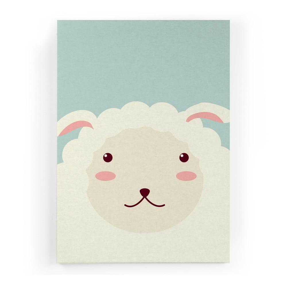 obraz na pl tn little nice things sheep 60 x 40 cm bonami. Black Bedroom Furniture Sets. Home Design Ideas
