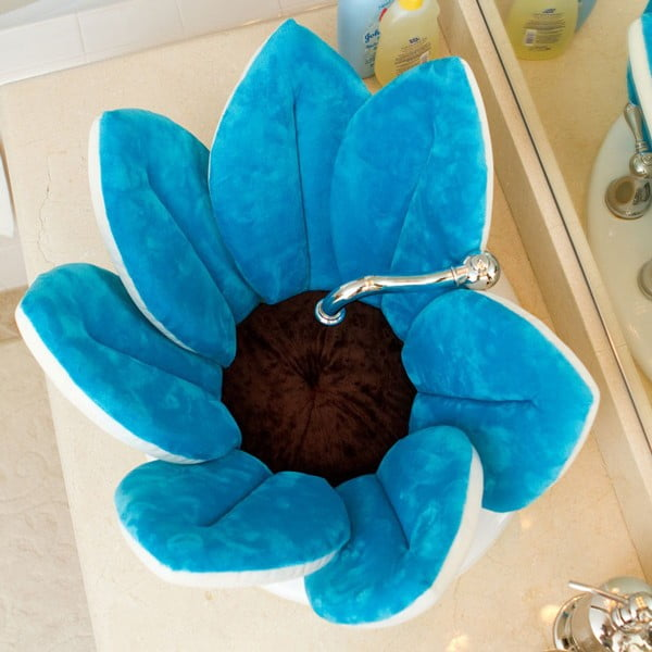 Koupací podložka BloomingBath, modrá