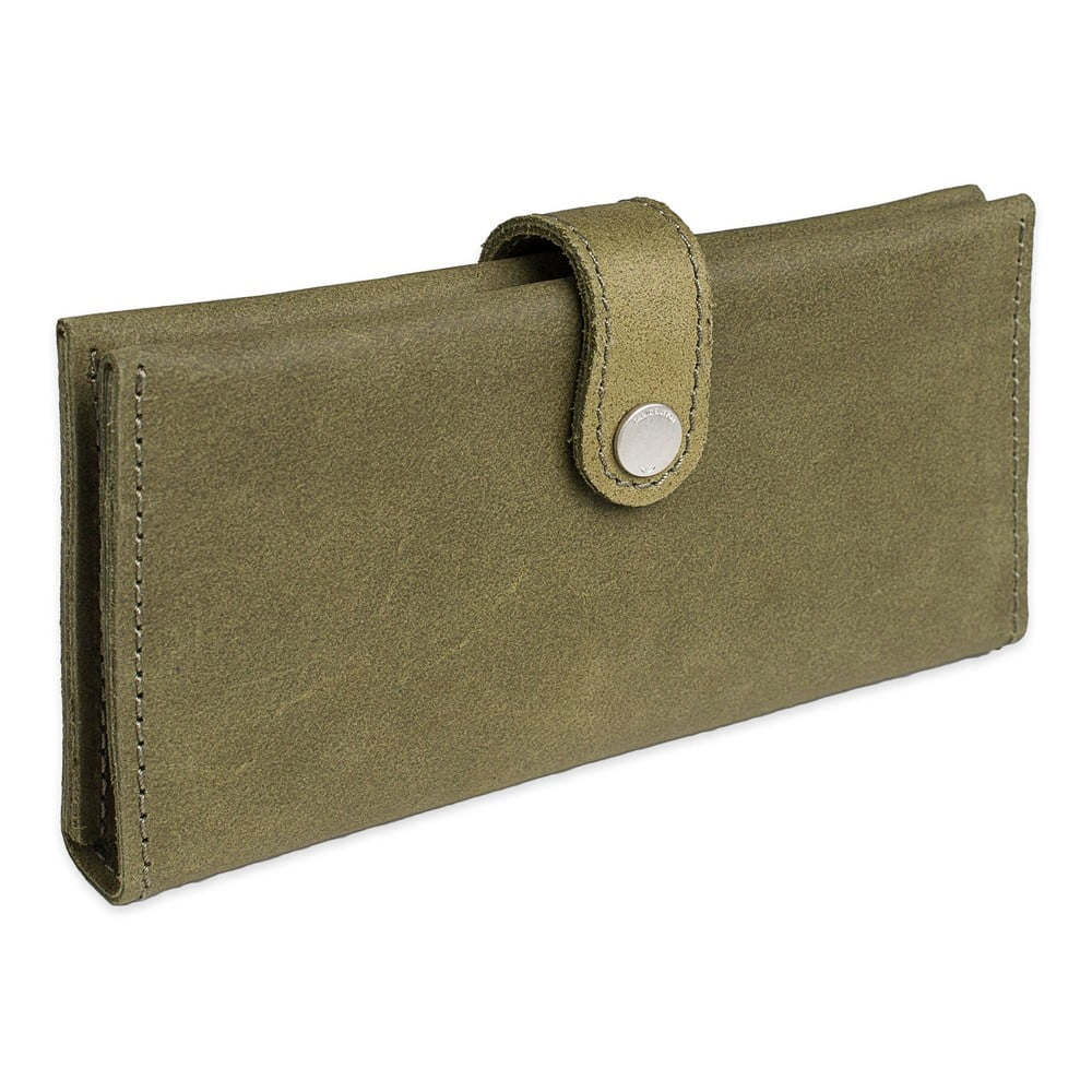 Zelená kožená peněženka Woox Magna Viridita