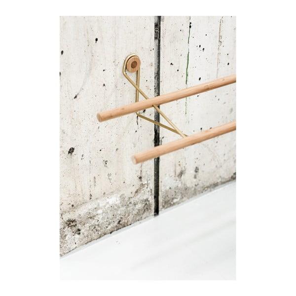 Raft din bambus pentru pantofi, de perete We Do Wood, maro-alămiu