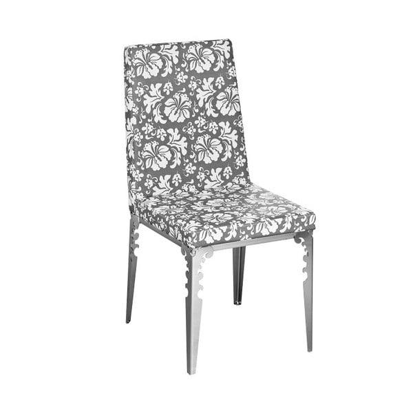 Židle Flower Grey&White