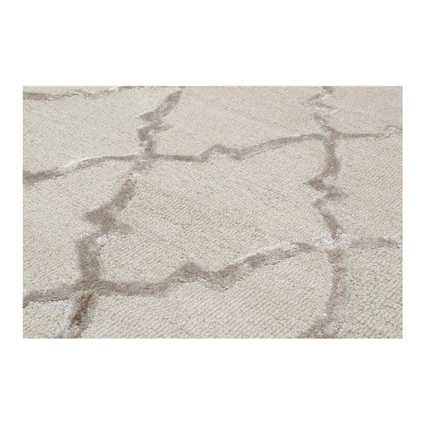 Ručně tuftovaný krémový koberec Bakero Kohinoor, 153 x 244cm