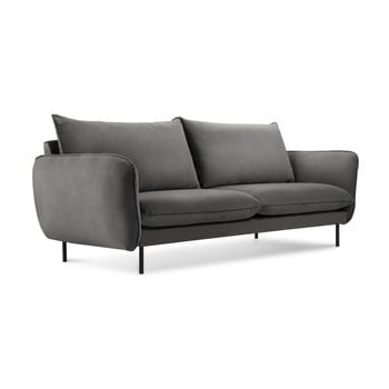 Canapea cu 2 locuri Cosmopolitan Design Vienna, gri închis de la Cosmopolitan Design