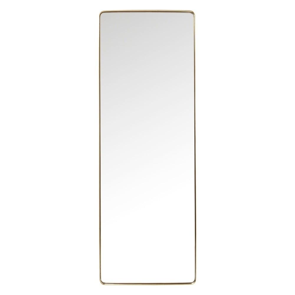 Zrcadlo s rámem v mosazné barvě Kare Design Rectangular, 200x70cm