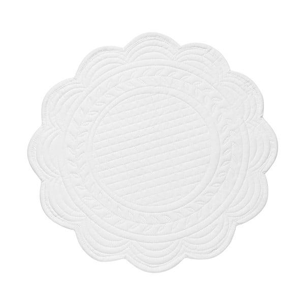 Set 6 bavlněných prostírání White, 30 cm