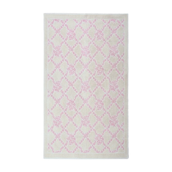 Pudrový bavlněný koberec Floorist Lerato , 100x200cm
