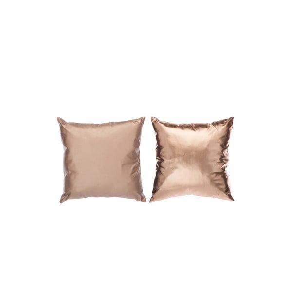 Set 2 polštářů Shiny 40x40 cm, růžové zlato