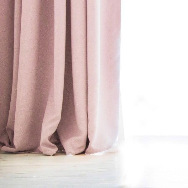 Svetloružový záves DecoKing Pierre, 140 × 270 cm