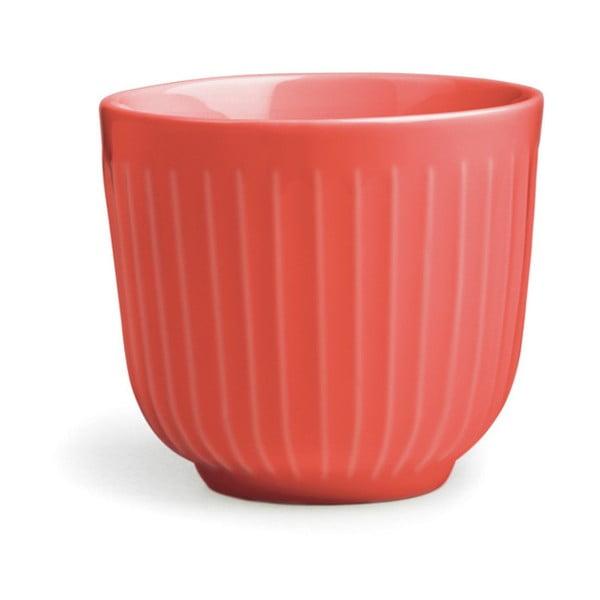 Korálovočervený porcelánový hrnček Kähler Design Hammershoi, 200 ml