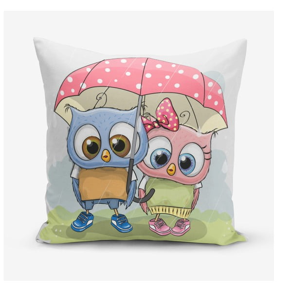 Față de pernă Minimalist Cushion Covers Umbrella Owls, 45 x 45 cm