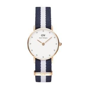 Dámské modro-bílé hodinky Daniel Wellington Leicester