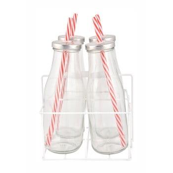 Suport cu 4 sticle Esschert Design Farma, 430 ml