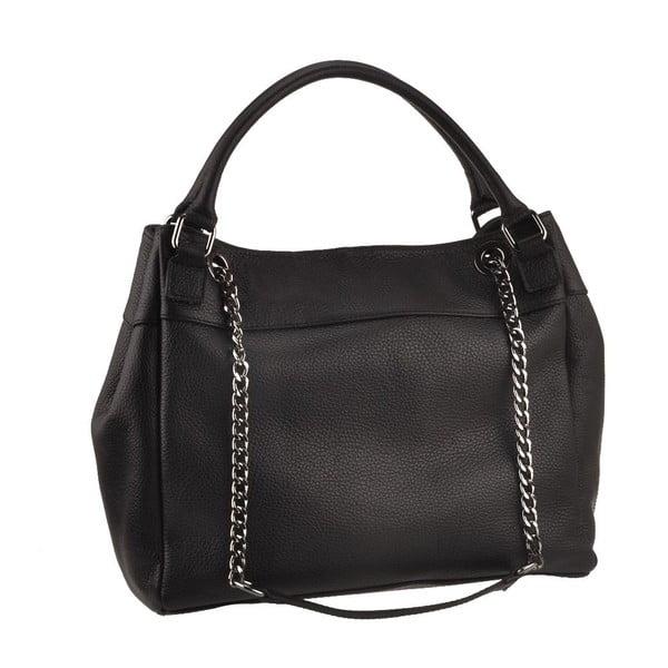 Černá kožená kabelka Florence Bags Meissa
