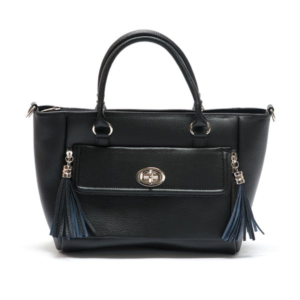 Černá kožená kabelka Mangotti Iresine