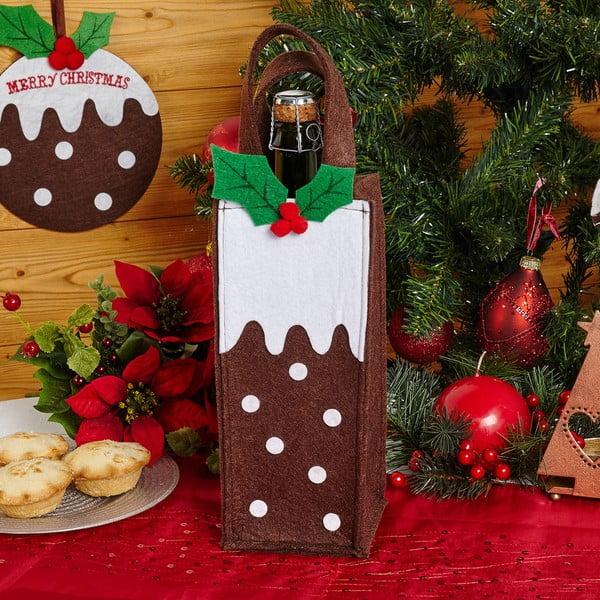 Dárková taška z filcu na lahev Neviti Christmas Pudding