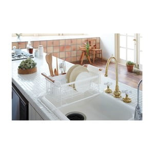 Suport pentru scurs vase Yamazaki Tosca Sink, alb