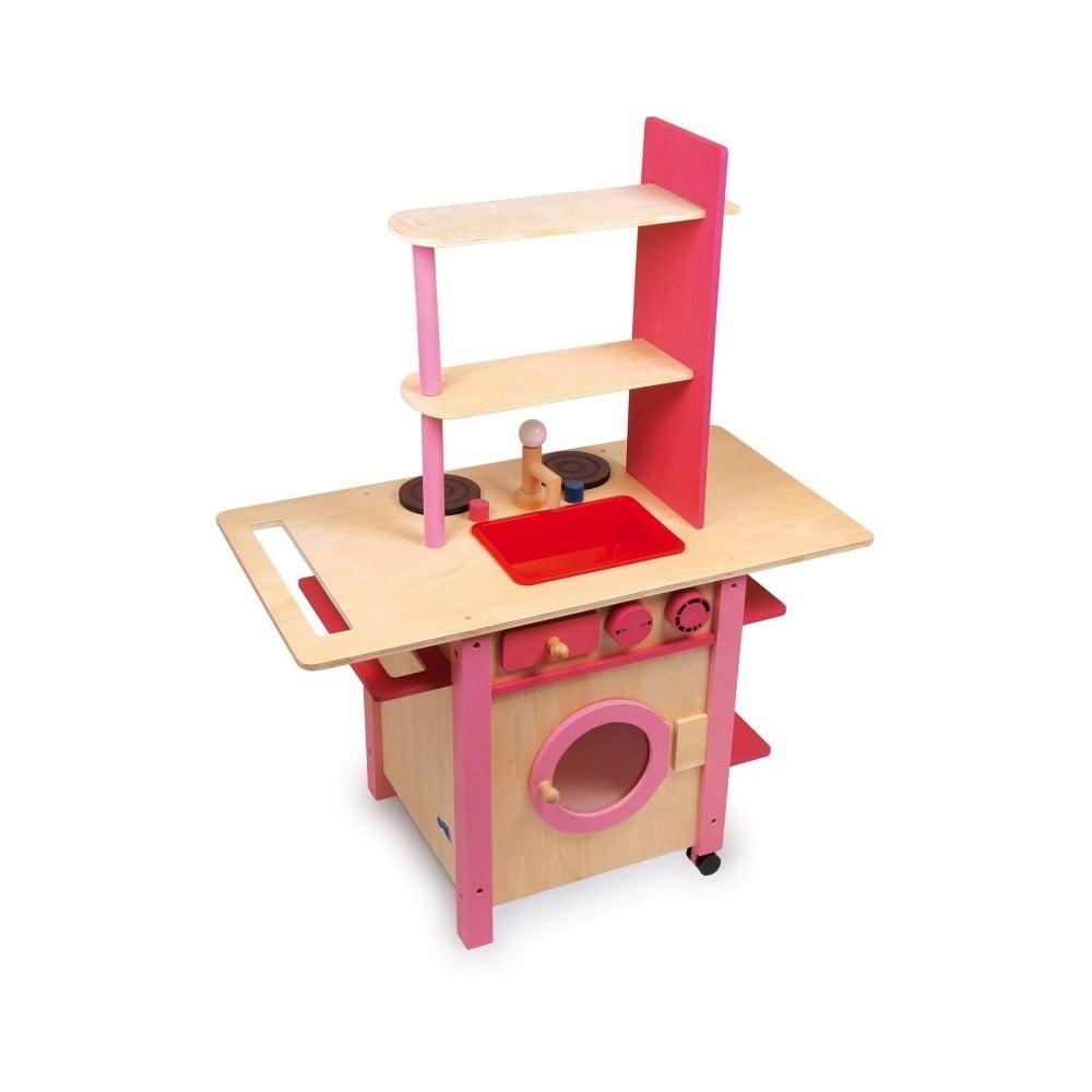 Dřevěná kuchyňka na hraní Legler All in One