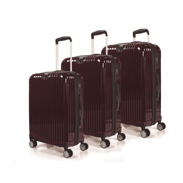 Sada 3 kufrů Jaslen, burgundy