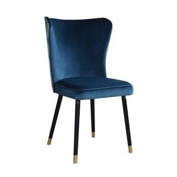 Scaun cu detalii aurii JohnsonStyle Odette Eden, albastru